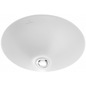 Villeroy & Boch Loop & Friends onderbouwwastafel rond 33 cm CeramicPlus, wit