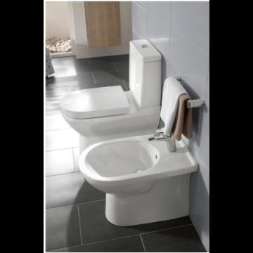 Villeroy & Boch O.novo toiletzitting met deksel en softclose en quickrelease, wit