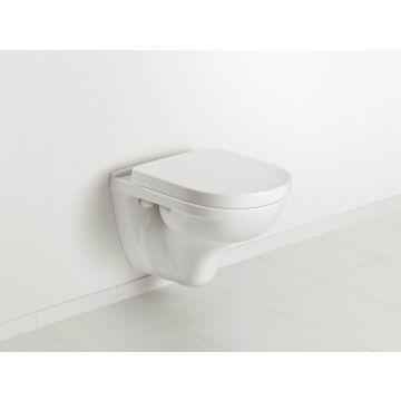 Villeroy & Boch O.novo CombiPack wandtoilet diepspoel met toiletzitting met softclose en quickrelease, wit