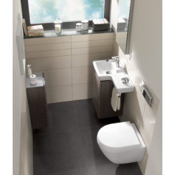 Villeroy & Boch Subway 2.0 toiletzitting compact met deksel, wit