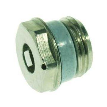 """VSH H3711 Simplex ontluchtingsstop 1/2"""" bu. met pakking, chroom"""