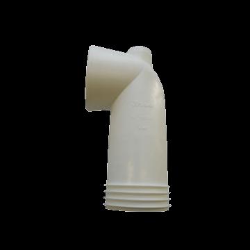 Wisa 301K toiletafvoermanchet bocht 18 cm, wit