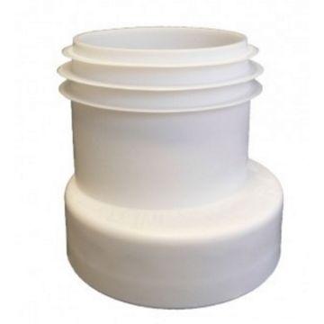 Wisa toiletafvoermanchet 11 cm exentrisch nr.7, wit