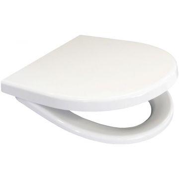 Wisa D-Star 300 S toiletzitting met deksel en softclose en quickrelease, wit