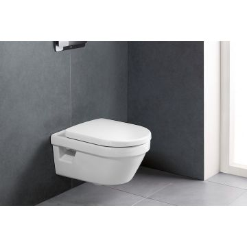 Villeroy & Boch Omnia Architectura combipack Directflush diepspoel wandcloset en toiletzitting met Quickrelease en Softclosing, wit