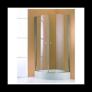 Hüppe 501 Design Pure kwartrond helft 80x190 cm, matzilver-helder glas
