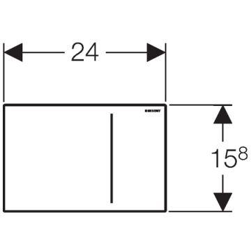 Geberit Sigma70 bedieningspaneel voor 12 cm diep inbouwreservoir, glas zwart/aluminium