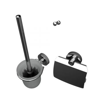 Geesa Luna toilet-accessoireset, chroom