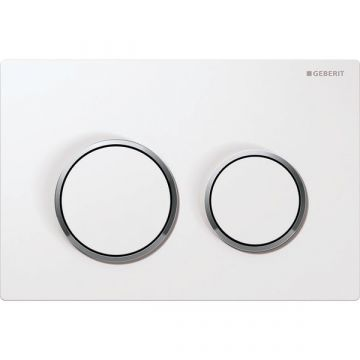 Geberit Omega20 bedieningspaneel front/planchetbediening, wit-chroom-wit