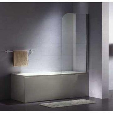 Sub 052 badklapwand 75x140 cm, chroom-helder clean