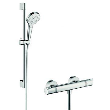 Hansgrohe Croma Select S vario / Ecostat Comfort douchecombinatie 65 cm, wit-, chroom