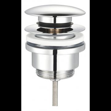 """Sub 016 pop up wastafelplug 1 1/4"""" 42 mm afsluitbaar, chroom"""