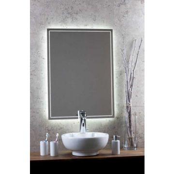 Sub 130 spiegel met LED-verlichting rondom en verwarming 120x80 cm