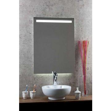 Sub 130 spiegel met horizontale LED-verlichting met sensor en verwarming 70x80 cm