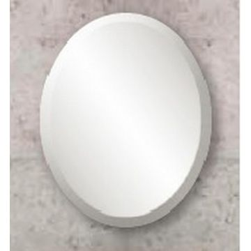Sub 126 spiegel ovaal met bevestiging en facetrand 25 mm 30x40 cm