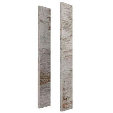Sub 113 houten kleurzijdes voor spiegelkast, vintage m63
