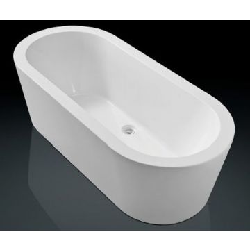 Sub 190 bad vrijstaand 180x80 cm met badwaste en onderstel, wit