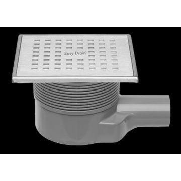 Easy Drain Aqua Plus Quattro vloerput 15x15 cm met rooster msi-6, rvs geborsteld
