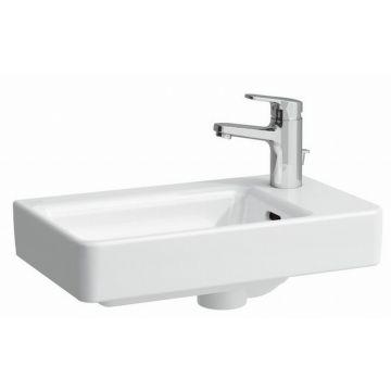 Laufen Pro S fontein 48x28 asymetrisch rechts 1xkrgt.met overl, wit