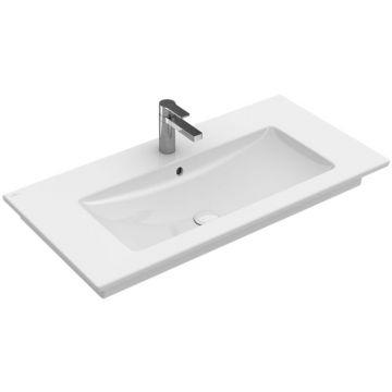 Villeroy & Boch Venticello meubelwastafel rechthoek met 1 kraangat met overloop 80x50 cm, wit alpin