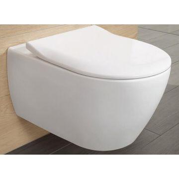 Villeroy & Boch Subway 2.0 CombiPack hangend toilet diepspoel Directflush met toiletzitting SlimSeat en softclose en quickrelease, wit