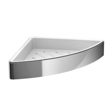 Emco Loft hoekkorf met witte kunststof inzet 3,6 x 17,9 cm, chroom