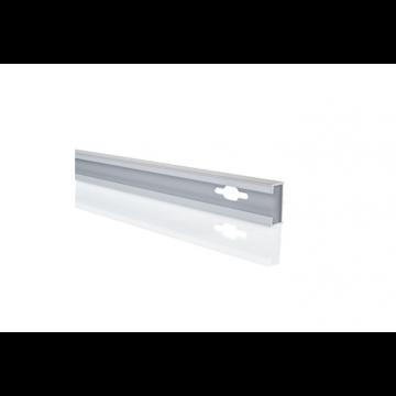 Hüppe Design pure verbredingsprofiel 1,5x200 cm, zilver mat