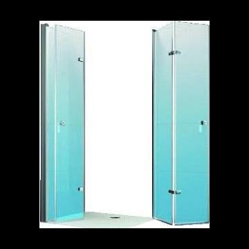 Hüppe Design pure 2-delige vouwdeur sft links 120x190 cm, matzilver-helder glas
