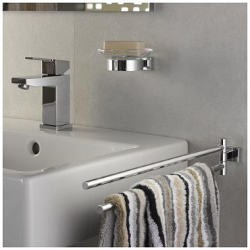 GROHE Essentials Cube draaibare handdoekhouder 2-armig 43,9 cm, chroom