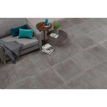 Sub 1724 keramische tegelmat 30x30 cm, blok 5x5 cm, donker grijs