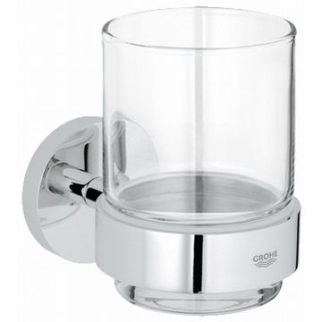 GROHE Essentials houder met glas, chroom