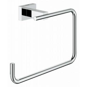 GROHE Essentials Cube handdoekring rechthoekig, chroom