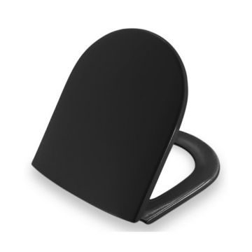 Pressalit Projecta D 172 Polygiene toiletzitting met deksel, zwart