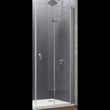 Hüppe Design pure 2-delige vouwdeur sft rechts 90x190 cm, matzilver-antiplaque glas