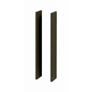Sub 123 set zijpanelen voor spiegelkast, hoogglans wit