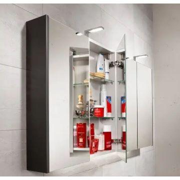 Sub 16 spiegelkast met 2 deuren 74 x 120 x 13 cm, chroom