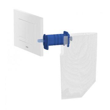 Wisa Clean XT toiletblokhouder en filter voor Kantos bedieningspaneel, wit