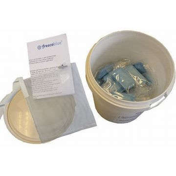 Wisa FrescoBlue toiletblokjes in emmer à 52 stuks, met filter, blauw