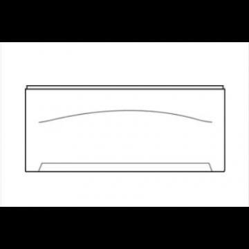 Wisa Levanto frontpaneel recht 190 cm, wit