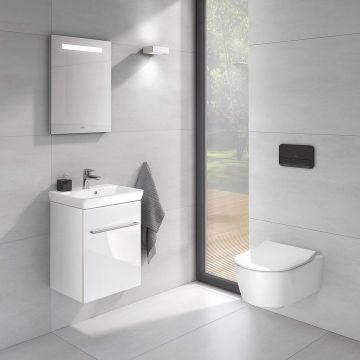 Villeroy & Boch Avento CombiPack hangend toilet diepspoel Directflush inclusief toiletzitting SlimSeat en softclose en quickrelease, wit