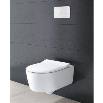 Villeroy & Boch Avento CombiPack hangend toilet diepspoel CeramicPlus Directflush inclusief toiletzitting SlimSeat en softclose en quickrelease, wit