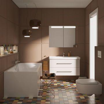 Villeroy & Boch Avento CombiPack hangend toilet diepspoel CeramicPlus Directflush inclusief toiletzitting met softclose en quickrelease, wit