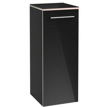 Villeroy & Boch Avento half hoge kast 35x37x89 cm met 2 deuren scharnier rechts en 2 planchetten, crystal grey