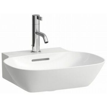 Laufen Ino fontein 45x41 cm met 1 kraangat met overloop, wit