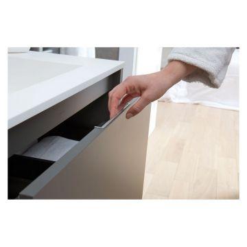 Bruynzeel Matera dubbele composiet meubelwastafel zonder kraangaten 150x46 cm, mat wit