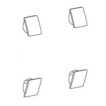 Linido schroefkapset voor opklapbare toiletbeugel, antraciet