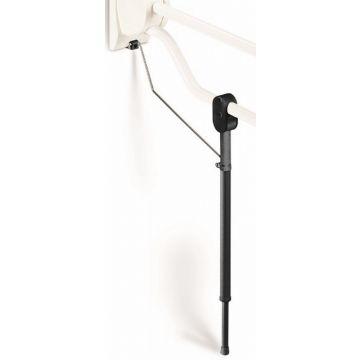 Linido hulppootset voor opklapbare toiletbeugel, antraciet RAL 7021