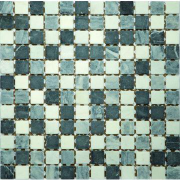 Sub 1729 keramische tegelmat 30,5x30,5 cm, blok 2,3x2,3 cm, prijs per stuk, nero