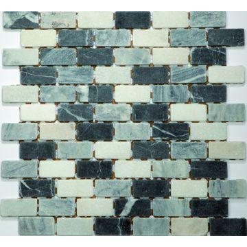 Sub 1729 keramische tegelmat 30,5x30,5 cm, vrij 2,3x4,8 cm, prijs per stuk, nero