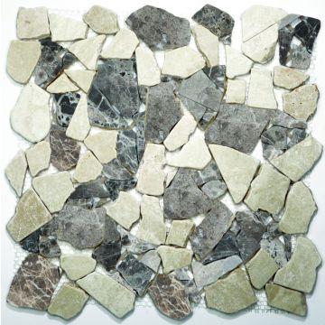 Sub 1729 keramische tegelmat 30,5x30,5 cm, prijs per stuk, breuk, castanao-cream
